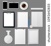vector corporate template set.... | Shutterstock .eps vector #1092642833