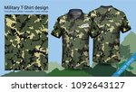 military polo t shirt design ... | Shutterstock .eps vector #1092643127