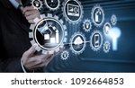 smart factory and industry 4.0... | Shutterstock . vector #1092664853