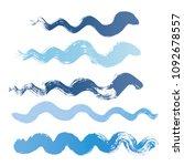 wave brush strokes vector set... | Shutterstock .eps vector #1092678557