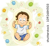 illustration of a kid boy... | Shutterstock .eps vector #1092684503
