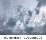 dramatic grey clouds on sky... | Shutterstock . vector #1092688703