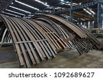 iron and steel material storage ... | Shutterstock . vector #1092689627