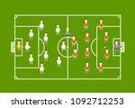 green football field with... | Shutterstock .eps vector #1092712253