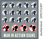 set of man with hand signals in ...   Shutterstock .eps vector #1092721307
