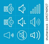 outline volume 9 vector icons...