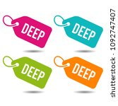 deep price tags. flat eps10... | Shutterstock .eps vector #1092747407