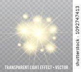vector glow light effect. star... | Shutterstock .eps vector #1092747413