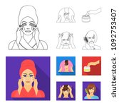 cosmetic  salon  hygiene  and... | Shutterstock .eps vector #1092753407