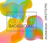 abstract background with color... | Shutterstock .eps vector #1092772793