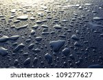 Water Drops On Metal Surface....