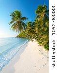 pristine beach in seychelles | Shutterstock . vector #1092783383