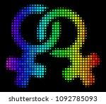 pixel colorful halftone lesbi...   Shutterstock .eps vector #1092785093