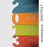 Original Vector New Year 2013...