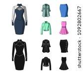 women clothing cartoon black...   Shutterstock .eps vector #1092802667