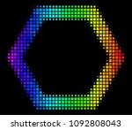 pixelated colorful halftone... | Shutterstock .eps vector #1092808043