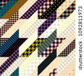 seamless background pattern.... | Shutterstock .eps vector #1092811973