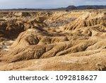 badlands at bardenas reales ... | Shutterstock . vector #1092818627
