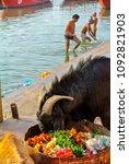 varanasi india  ganges jan 22 ...   Shutterstock . vector #1092821903