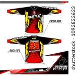 long sleeve motocross jerseys t ...   Shutterstock .eps vector #1092822623