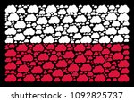 poland flag pattern done from...   Shutterstock .eps vector #1092825737