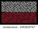 poland national flag pattern...   Shutterstock .eps vector #1092825767