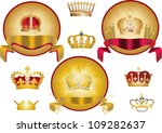 illustration with crown... | Shutterstock .eps vector #109282637