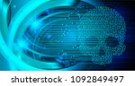 cyber hacker attack background  ... | Shutterstock .eps vector #1092849497