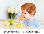 cute redhead toddler baby... | Shutterstock . vector #1092857063