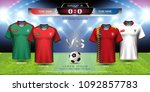 football cup 2018 team group b  ... | Shutterstock .eps vector #1092857783