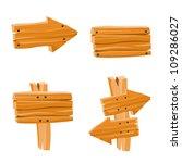 vector set with wooden signs   Shutterstock .eps vector #109286027