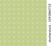 green geometric pattern in... | Shutterstock . vector #1092884723