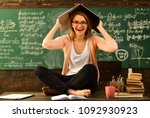great teachers find out what... | Shutterstock . vector #1092930923