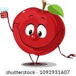 apple fruit with juice glass    ... | Shutterstock .eps vector #1092931607