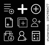 outline add icon set such as... | Shutterstock .eps vector #1092980477