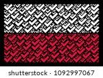 poland flag composition...   Shutterstock .eps vector #1092997067