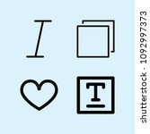 outline set of 4 shapes icons... | Shutterstock .eps vector #1092997373