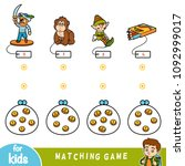 matching education game for...   Shutterstock .eps vector #1092999017