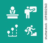 person related set of 4 icons...   Shutterstock .eps vector #1093002563