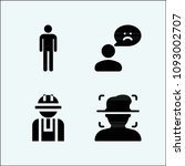 user related set of 4 icons... | Shutterstock .eps vector #1093002707