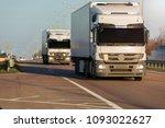 arriving white truck on the... | Shutterstock . vector #1093022627