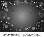 white sparks and golden stars...   Shutterstock .eps vector #1093049483