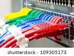 network switch and utp ethernet ... | Shutterstock . vector #109305173