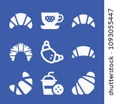 set of 9 croissant filled icons ... | Shutterstock .eps vector #1093055447