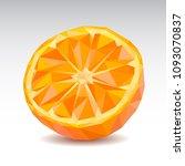 polygonal orange slice. low...   Shutterstock .eps vector #1093070837