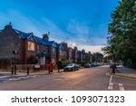 chiswick suburb in summer... | Shutterstock . vector #1093071323
