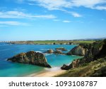 view of the beach of mexota in...   Shutterstock . vector #1093108787