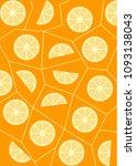 citrus fruit vector background | Shutterstock .eps vector #1093138043