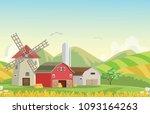 illustration of mountain... | Shutterstock . vector #1093164263
