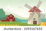 illustration of mountain... | Shutterstock . vector #1093167653